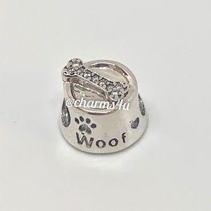Authentic PANDORA Woof Dog Bowl Charm